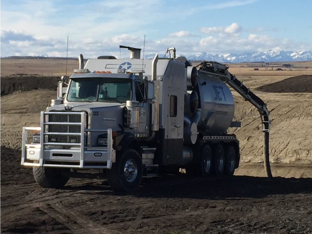 hydrovac services calgary remote hose excavation